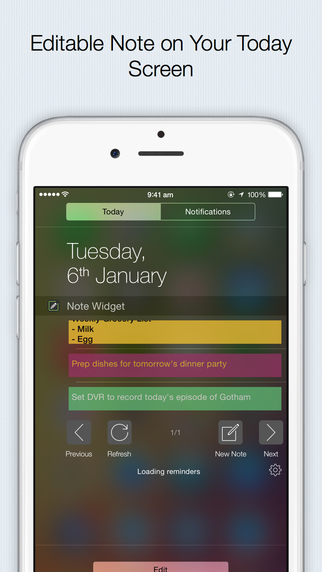 Note Widget - the fastest and most efficient way to add note to-do reminders shopping list
