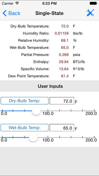 HVAC Psychrometric Plus iPhone Screenshot 5