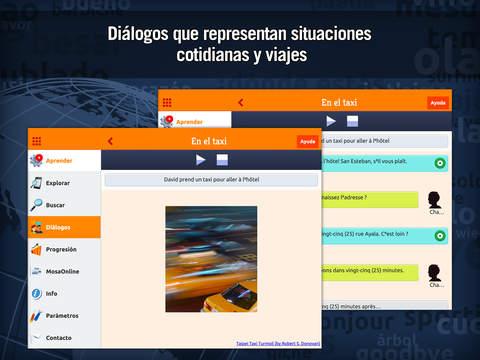 MosaLingua Francés: Aprender Francés rápidamente (Español ► Francés) iPad Screenshot 3