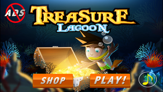 Treasure Lagoon- collecting coins and race to beat