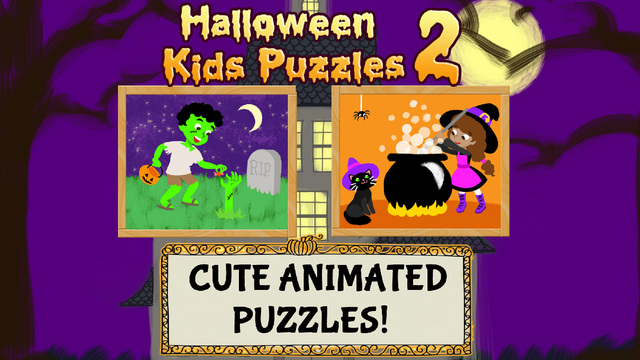 Halloween Kids Puzzles 2: Ghost Zombie and Witch Games for Toddlers Boys and Girls