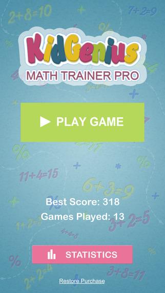 KidGenius Math Trainer Pro - Addition Edition