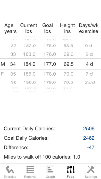 Exercise Calculator iPhone Screenshot 4