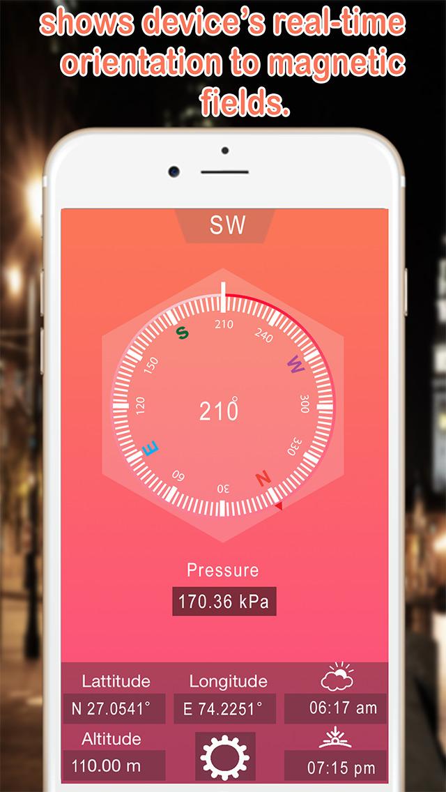 Compass Heading | GPS Compass Altimeter, Digital Direction Finder Скриншоты3
