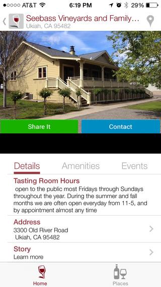 Mendocino Wine and Travel App