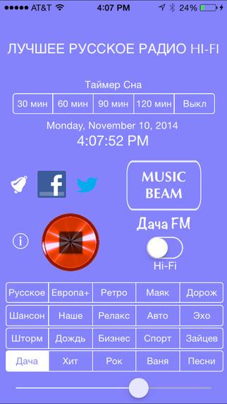 BEST RUSSIAN RADIO Hi-Fi + MusicBeam, Alarm & Timer