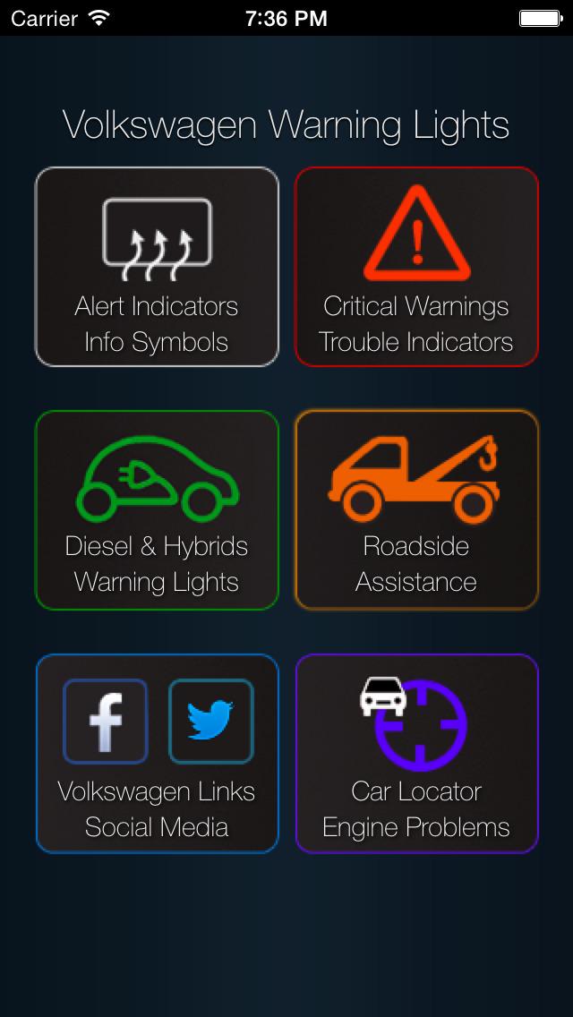 App Shopper App For Volkswagen Cars Volkswagen Warning Lights