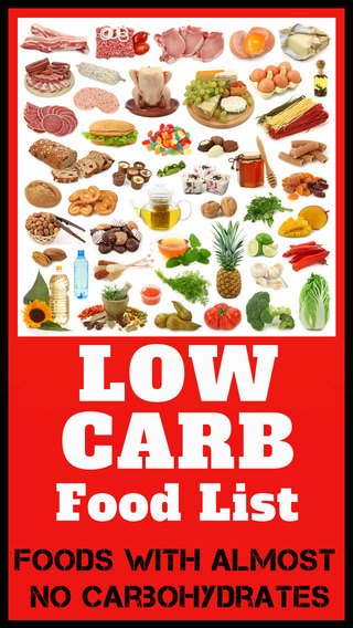 Low Carb Food List - Foods with almost no carbohyd