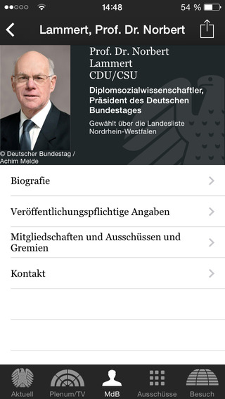 Deutscher Bundestag iPhone Screenshot 5
