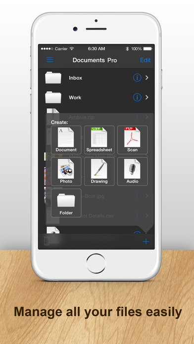 DOCUMENTS 2 FREE (Spreadsheet, Text Edit, Preview, Email, Wi-Fi) iPhone Screenshot 4