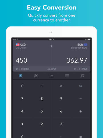 iCurrency Pad  ~  Currency Converter & Exchange Rates screenshot