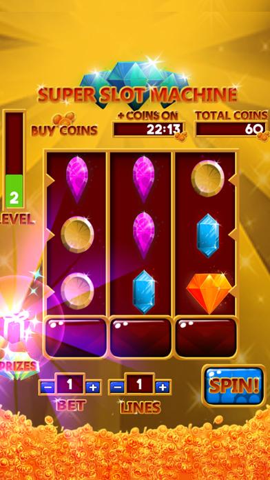 Ultra Super Slots Machine. Feel the magic of Las Vegas on your smartphone. iPhone Screenshot 1
