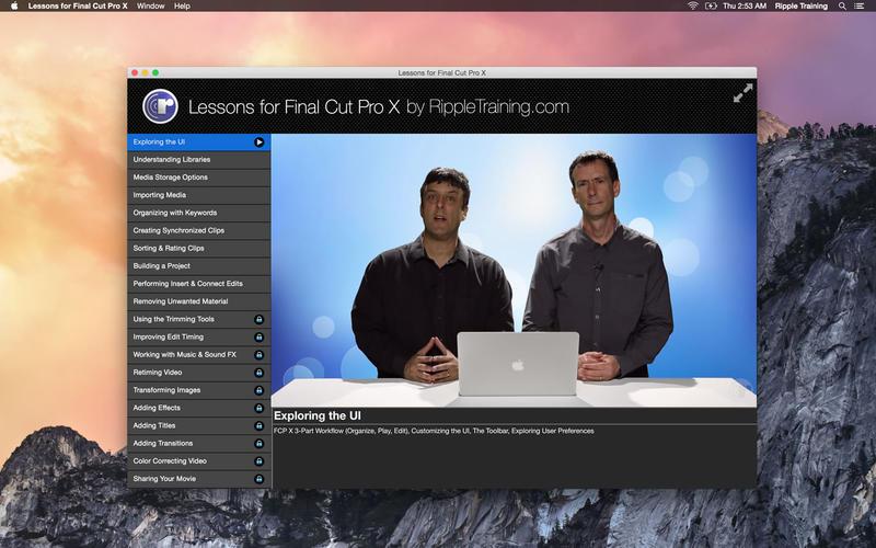 Lessons for Final Cut Pro X Screenshot - 1