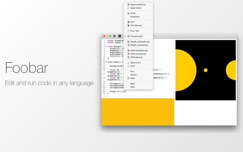 Foobar - 代码编辑器[OS X]丨反斗限免