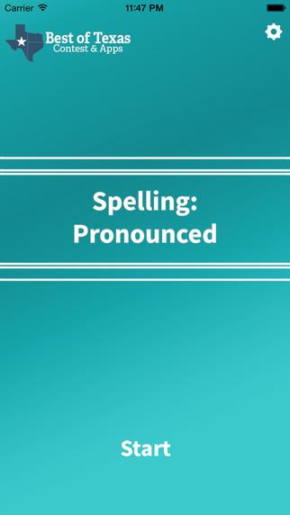 Best of Texas Spelling: Pronounced