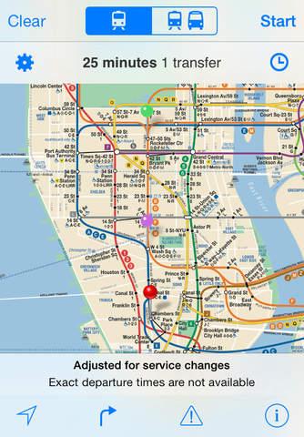iTrans NYC Subway screen