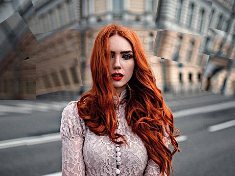Рыжая девушка фото