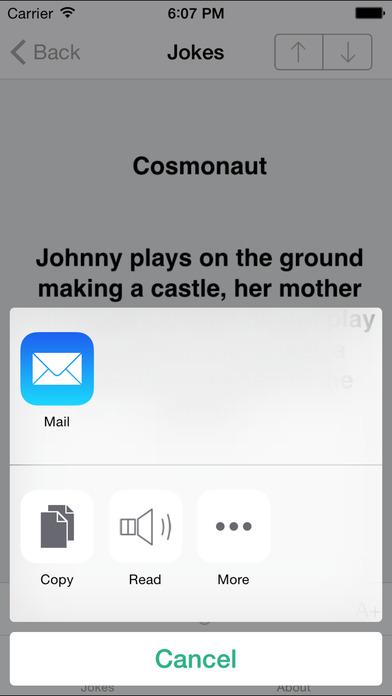 Pepito's Jokes iPhone Screenshot 3