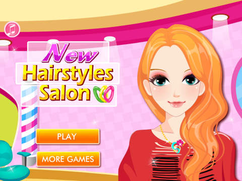 New Hairstyles Salon HD - The hottest girl hair salon game for girls and kids