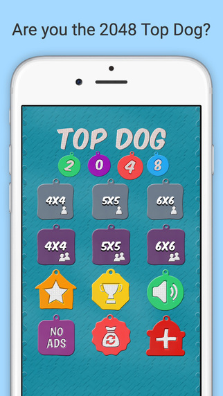 Top Dog 2048 - Multiple Board Sizes and Multiplayer Support