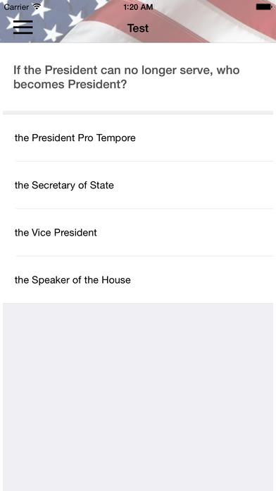 US Citizenship Test Guide iPhone Screenshot 4