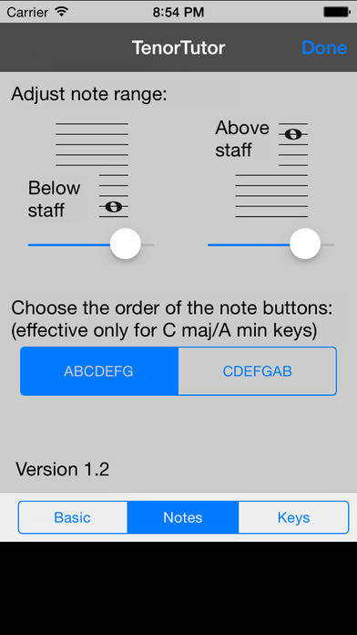Tenor Tutor iPhone Screenshot 2