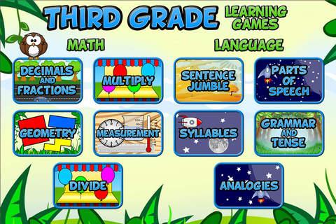 Screenshot 1 Third Grade Learning Games