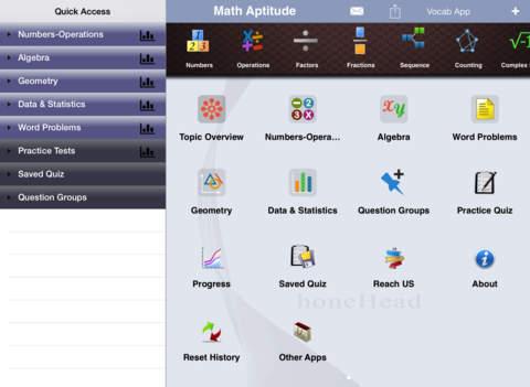 PRAXIS Math Aptitude iPad Screenshot 1