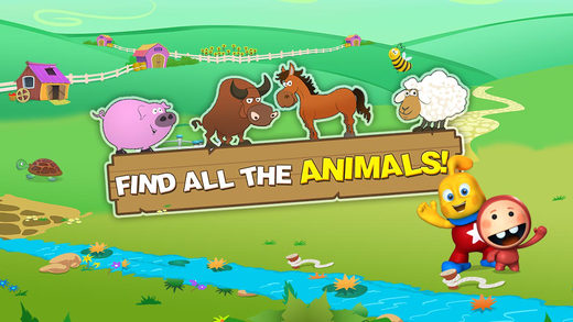 Learn Animal Names Sounds : Barn Yard Scanning Puzzle for Preschool Kindergarten Montessori
