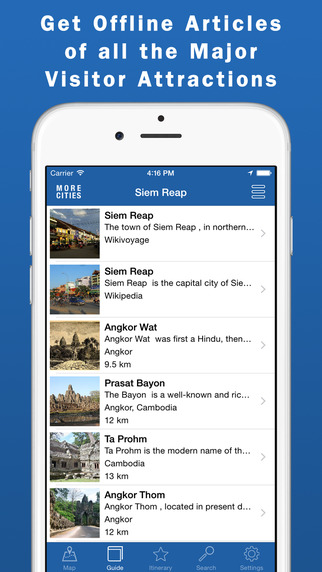 Angkor Park Travel Guide Offline Map - Includes Siem Reap