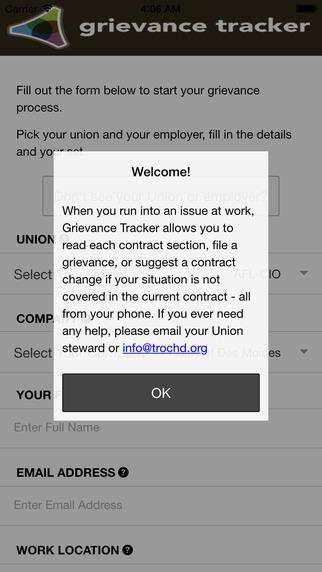 Grievance Tracker