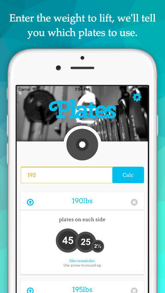 Plates - A Simple Lifting Calculator for the Gym