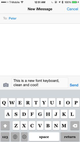 Keyboard of Georgia Font: Artistic Style Keys for iOS 8