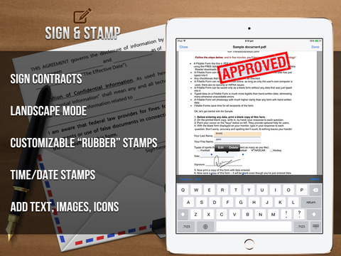 Sign It! - Fill, Sign and Send Documents iPad Screenshot 4