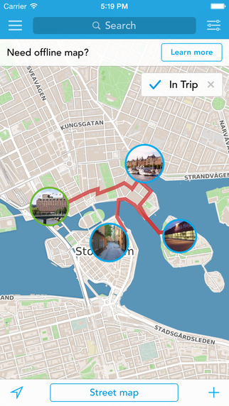 Scandinavia Trip Planner Travel Guide Offline City Map for Oslo Stockholm Helsinki Copenhagen or Rey
