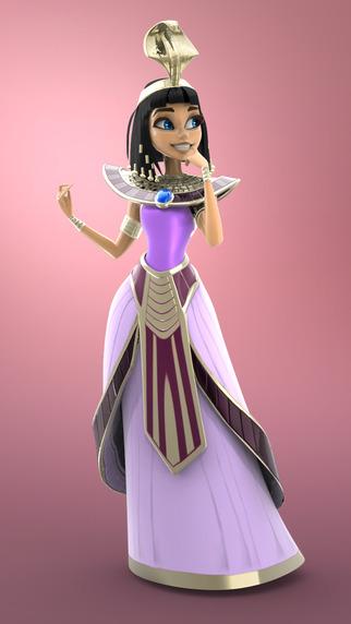 Figuromo Artist : Cleopatra Princess of Egypt - 3D Coloring Combine and Design Sculpture