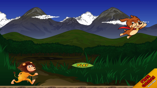 A Great Lion Stampede Running Carnivore - Jungle Hunt Enemy Run Game Pro