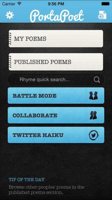PortaPoet iPhone Screenshot 1