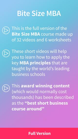 Bite Size MBA: Full Version