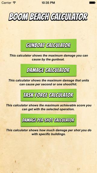 Calculator for Boom Beach