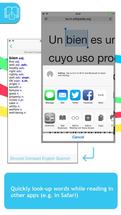 Spanish <-> English Talking SlovoEd Compact Dictionary iPhone Screenshot 3