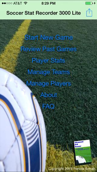 Soccer Stat Recorder 3000 Lite