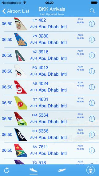 Thai Flight Information iPlane Thailand Airport