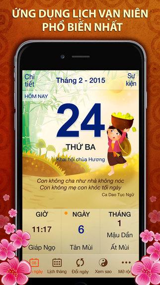 Lịch Việt Pro - Lịch Vạn Niên 2015