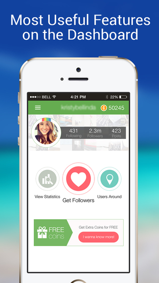 IGFollowers - for Instagram. Active Followers Booster