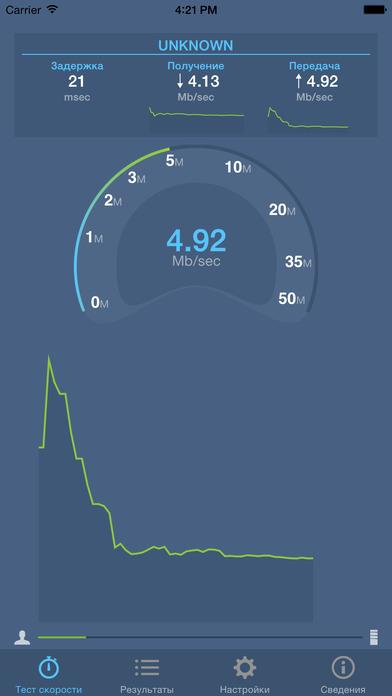 Тест скорости интернета приложение