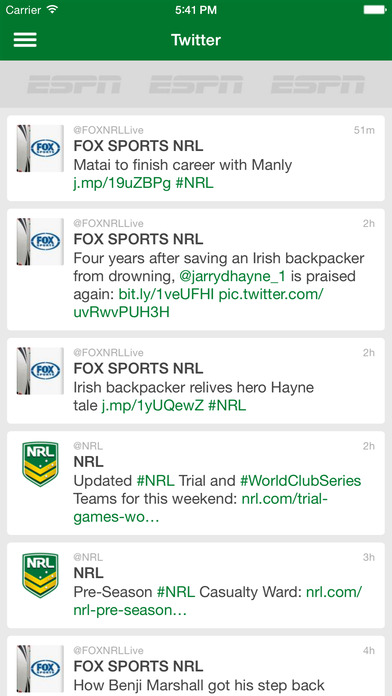 NRL Live Scores League Now iPhone Screenshot 4