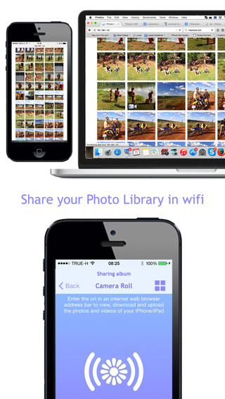 Photos In Wifi - Share the photos and videos of your camera roll in wifi