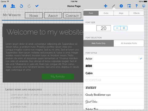 HTML Egg Pro for iPad - touch based web designer