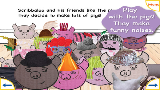 Scribbaloo Pigs - cut out paint and dress up your very own pig